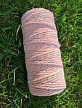 Эко шнур хлопковый крученный 4мм  №29 Нежно-розовый, фото 2