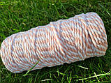 Эко шнур хлопковый крученный 4мм №30 Нежно-розовый, фото 2