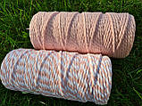 Эко шнур хлопковый крученный 4мм №30 Нежно-розовый, фото 3