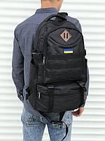 Якісний тактичний рюкзак (40 л) чорний, фото 1