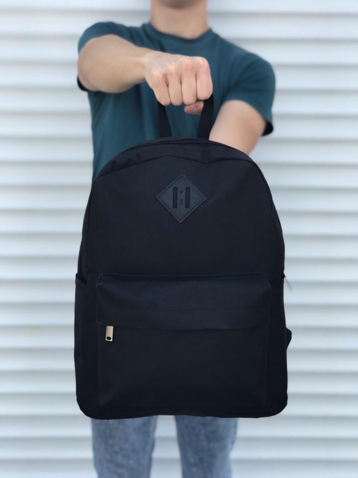 Якісний чорний рюкзак (17 л) чорний