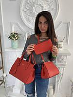 Женская сумка из эко-кожи 3 в 1, фото 1