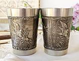 Два винних олов'яних келиха, харчове олово, Німеччина, мисливські мотиви, 280 мл, фото 2