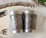 Два винних олов'яних келиха, харчове олово, Німеччина, мисливські мотиви, 280 мл, фото 5