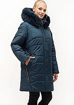 Зимняя стёганная  женская куртка батал цвета марсал с 54 по 70 размер, фото 3
