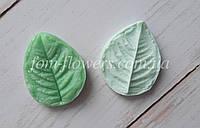 Молд и Вайнер Лист Розы S 5,5х4,4 см, фото 1