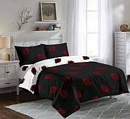 Качественное постельное белье полуторка, клубника