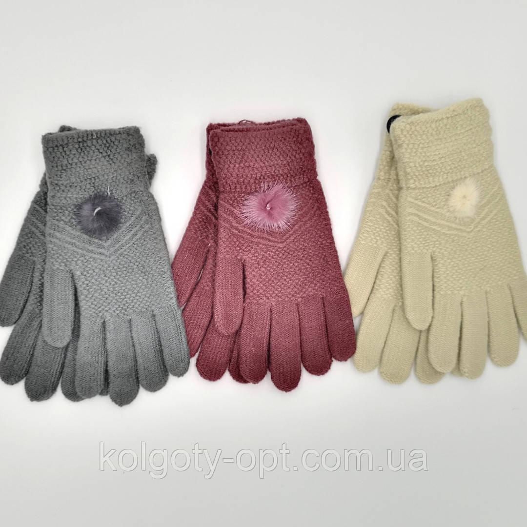 Жіноча рукавичка шерстяна тепла букле