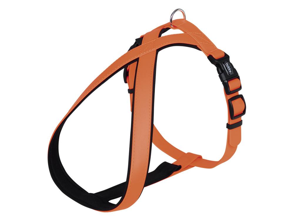Шлея для собак светоотражающая COVER Comfort Nobby, XS-S/ 30-40 см, Оранжевая