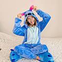 Піжама кігурумі дитяча, синього кольору Стіч. Розмір: 110. 120. 130. см, фото 2