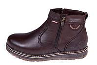 Мужские кожаные зимние ботинки Kristan clasic brown р. 42, фото 1