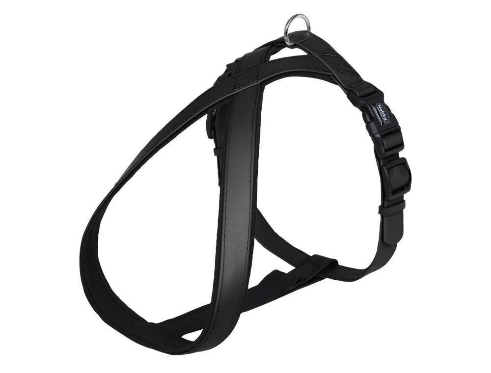 Шлея для собак светоотражающая COVER Comfort Nobby, S/ 35-50 см, Черная