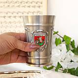 Коллекционный оловянный бокал, пищевое олово, Германия, гербовая символика, 300 мл, фото 6