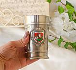 Коллекционный оловянный бокал, пищевое олово, Германия, гербовая символика, 300 мл, фото 4