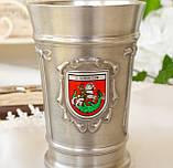 Коллекционный оловянный бокал, пищевое олово, Германия, гербовая символика, 300 мл, фото 5