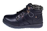 Мужские кожаные зимние ботинки Kristan clasic black р. 43 44, фото 1