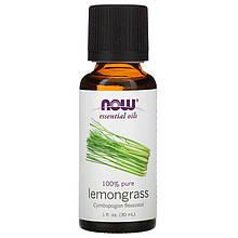 """Эфирное масло лемонграсса NOW Foods, Essential Oils """"Lemongrass"""" чистое (30 мл)"""