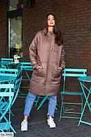 Женская куртка обьемная деми черная, хаки, кофеная, фото 1