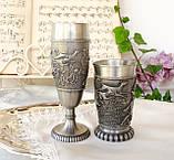 Два колекційних олов'яних келиха, харчове олово, Німеччина, королівське полювання, фото 2
