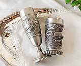 Два колекційних олов'яних келиха, харчове олово, Німеччина, королівське полювання, фото 7