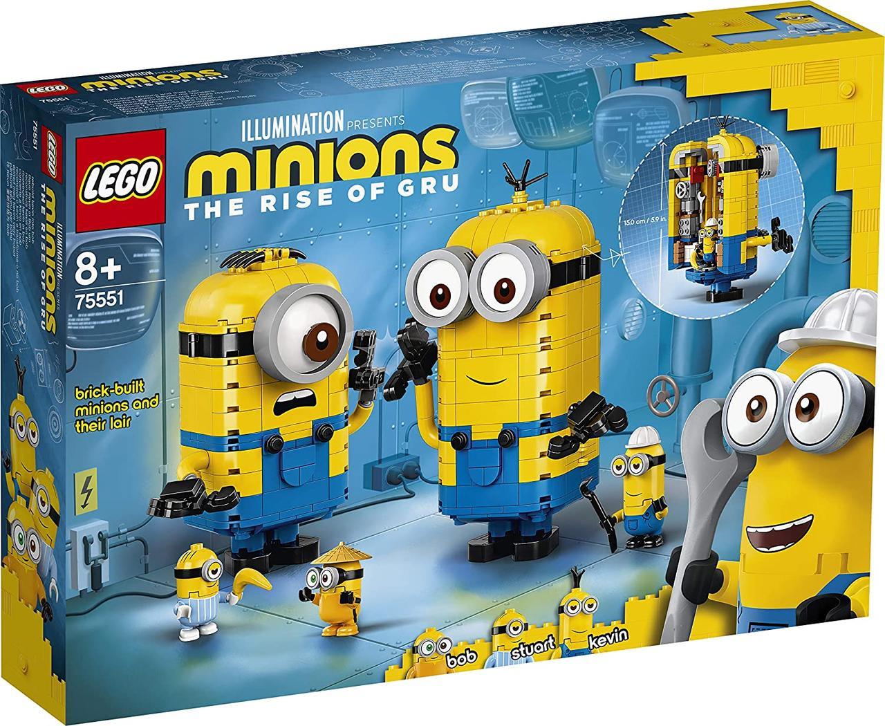LEGO 75551 Лего Конструктор Minions Фігурки міньйонів і їхній будинок 876 деталей