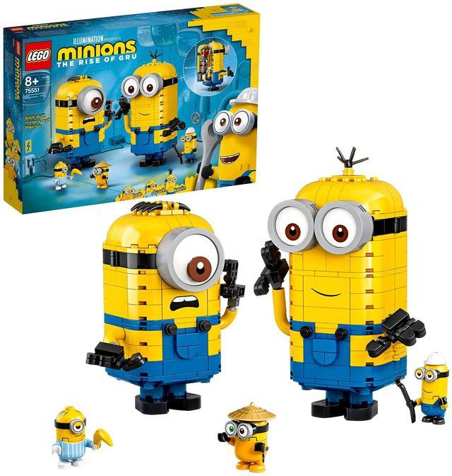 Конструктор LEGO Minions Фігурки міньйонів і їхній будинок 876 деталей (75551)