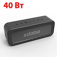 Портативная блютуз клонка Xdobo (Черная) USB, стерео акустика, колонки на телефон, беспроводная колонка