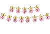 Гирлянда флажки Happy Birthday золото
