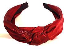 Обруч-чалма однотонный, бордовый
