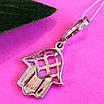 Серебряный кулон Хамса - Подвеска Хамса из серебра, фото 2