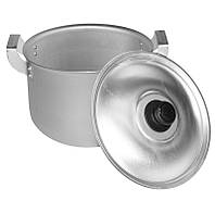Кастрюля с крышкой 6,0л алюминиевая цилиндрическая Калитва (14060), фото 1