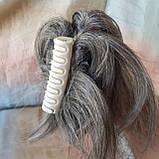 """Хвост короткий """"рожки"""" на крабе седой микс KARINA-51, фото 4"""