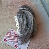 """Хвост короткий """"рожки"""" на крабе седой микс KARINA-51, фото 6"""
