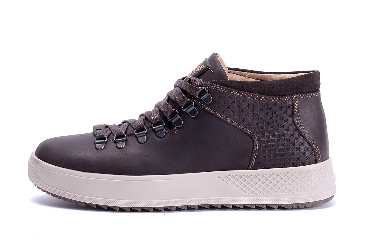 Чоловічі зимові шкіряні черевики ZG Chocolate Exclusive р. 40 42 44 45