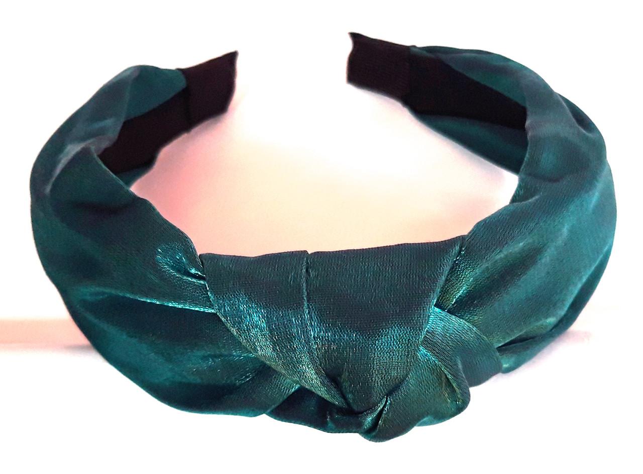 Обруч-чалма однотонный, зеленый