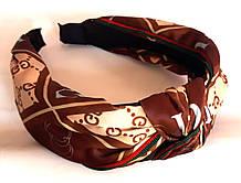 Обруч-чалма DG, коричневый