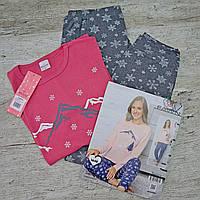 Пижама женская, хлопковая - ИНТЕРЛОК. Размер XL (48-50) Турция, КОТТОН. Женские пижамы, одежда для сна