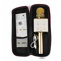 Беспроводной микрофон караоке Tuxun bluetooth золотой Q7 MS  (RZ513), фото 2