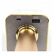Беспроводной микрофон караоке Tuxun bluetooth золотой Q7 MS  (RZ513), фото 3