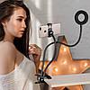 Держатель на прищепке с Led подсветкой Professional Live Stream усиленный для блогера селфи съемок Черный , фото 5
