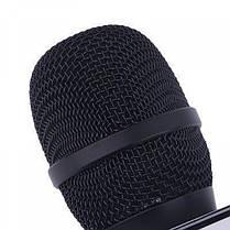 Беспроводной микрофон караоке Tuxun bluetooth чёрный Q7 MS  (RZ552), фото 3