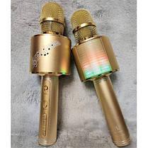 Беспроводной караоке микрофон детский Bluetooth c колонкой YS 66 Gold  (RZ032), фото 3