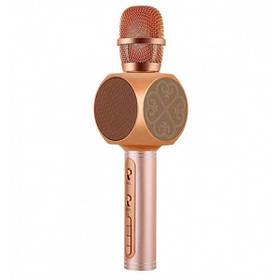 Беспроводной портативный Bluetooth микрофон с функцией изменения голоса Magic Karaoke YS-63 Pink  (RZ555)