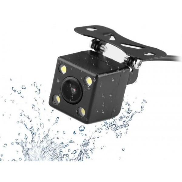 Камера заднего вида для авто водостойкая с подсветкой 4 LED угол обзора 170 градусов  (RZ578)
