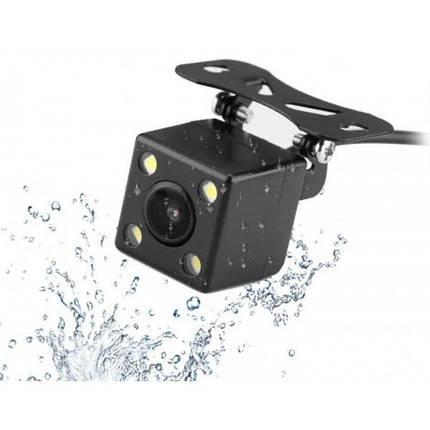 Камера заднего вида для авто водостойкая с подсветкой 4 LED угол обзора 170 градусов  (RZ578), фото 2