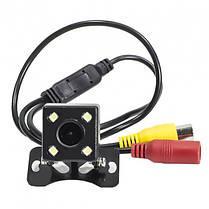 Камера заднего вида для авто водостойкая с подсветкой 4 LED угол обзора 170 градусов  (RZ578), фото 3