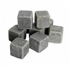 Камни для виски Whiskey Stones США Ice Melts Mini с мешочком для хранения в комплекте 9 шт.  (RZ641)