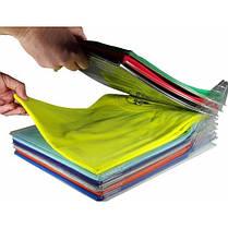 Универсальный органайзер для хранения одежды футболок тенисок 10 шт  (RZ658), фото 3