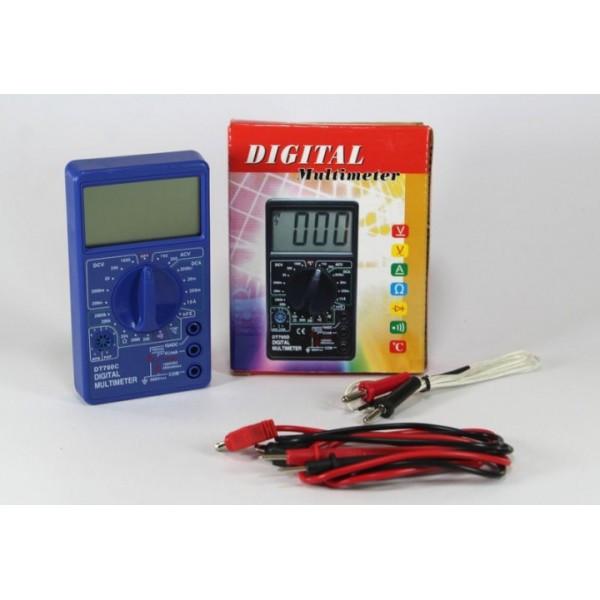 Мультиметр DT700C цифровой тестр вольтиметр экран увеличенной площади  (RZ293)