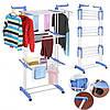 Многофункциональная сушилка для белья складная для одежды и вещей трехуровневая  (RZ687), фото 4